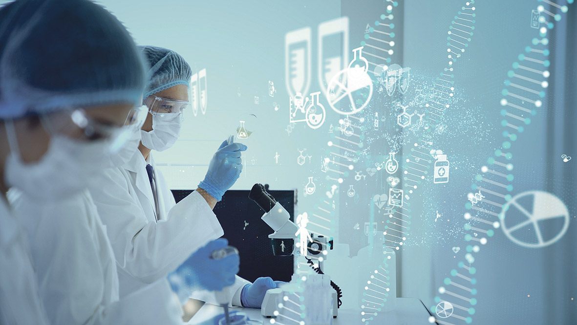 Forscher:innen in einem Labor